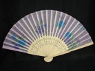 Cloth Hand Fans with Bamboo Slats