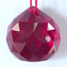 Red Hanging Crystal Balls