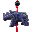 Blue Rhinoceros Charms