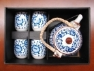 Chinese Style Blue Tea Set