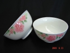 4 of Porcelain Rice Bowls with Red Flower Pictures