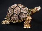 Bejeweled Big Metal Turtle