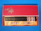 Chinese Chopsticks Set with Double Fishes and Good Blessings