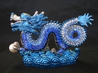 Bejeweled Imperial Blue Water Dragon