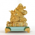 Golden Money Frog Carrying Bai Choi