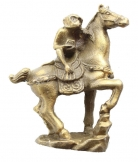Brass Monkey on Horse Statue