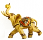 Big Yellow Gold Elephant Statue