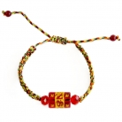 5 Element String with Red Omani Bead