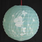 2 of Green Paper Lanterns with Pictures