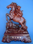 Big Horse Statue Carrying Monkey for Promotion