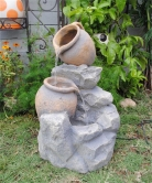 Polyresin and Fiberglass Tiered Pot Fountain