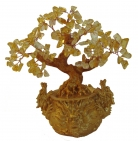 Citrine Tree in Dragon Pot