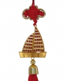 Golden Metal Sailing Boat Charm