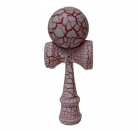 Full Print Red/White Crackle Kendama