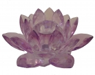 Purple Crystal Lotus Candle Holder
