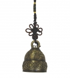 Bell Charm with Auspicious Image