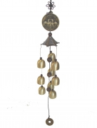 3-Layer Bell Charm with Double Pi Yao