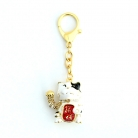 Lucky Cat Amulet Keychain