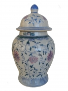 Blue Wealthy Vase with Lid