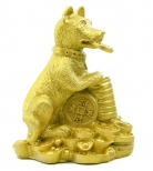 Chinese Golden Dog Statue