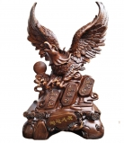 Big Brown Prosperity Eagle Statue