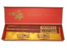 Chinese Chopstick Gift Set with Golden Fish Picture
